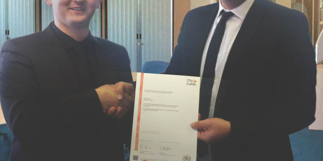 Five EDA module distinctions and a City & Guilds certificate for Stearn Electric employee