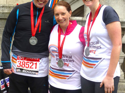 Huge success for Electrical Industries Charity London Marathon runners