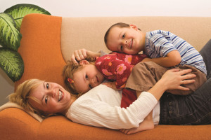 Vent-Axia family on couch
