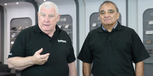 Tony Cable and celebrity sparky Billy Byrne join Scolmore at ELEX