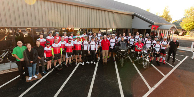 Aico charity bike ride raised over £19,000