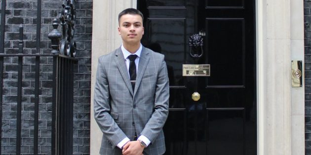 CEF apprentice Max awarded VIP visit to No.10