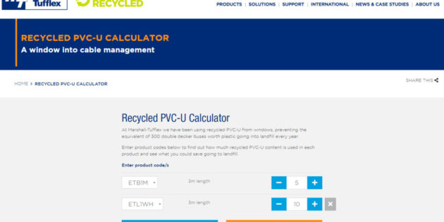 New interactive recycling calculator launched by Marshall-Tufflex