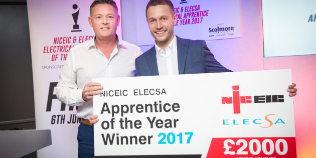 Scolmore-sponsored NICEIC and ELECSA Electrical Apprentice of the Year winner announced