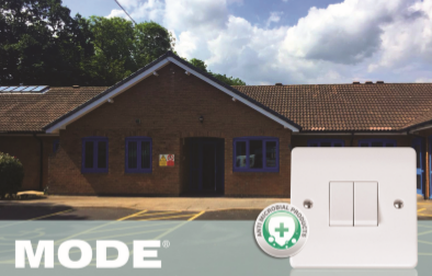 Care Home switches and sockets provided by Scolmore