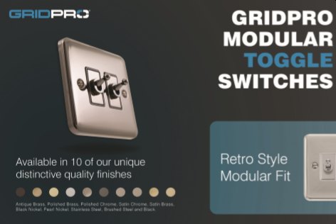 Scolmore adds 30 new GridPro toggle switch modules