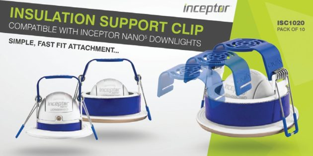 Scolmore adds insulation support bracket for Inceptor Nano downlight
