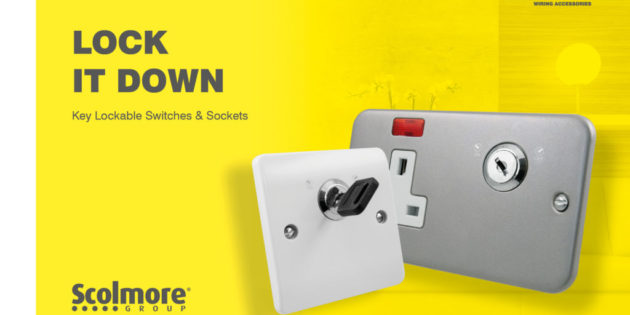 Key lockable switches and sockets from Scolmore