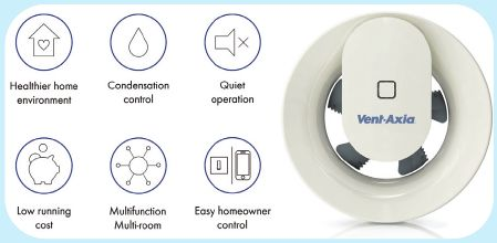 Vent-Axia's Lo-Carbon Svara offers electricians peace of mind